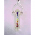 Chakra Pendant on Clear Quartz