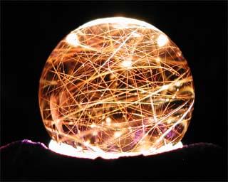 Rutilated smokey sphere