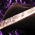 Clear quartz wand