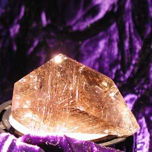 Smokey quartz rutiled crystal