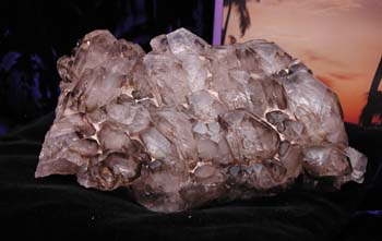 Clear and smokey quartz elestial cluster.